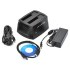 "2.5""/3.5"" Dual Dock USB 3.0 Docking Station - Black"