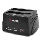 "2,5 ""/ 3,5"" Dual Dock USB 3.0 Docking Station - Black"