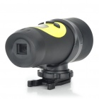 "Sports 720P 0.7"" LCD 1.3MP Action Video Camera Camcorder with AV / SD Slot - Black + Yellow"