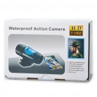 "Sports 720P 0.7"" LCD 1.3MP Action Video Camera Camcorder with AV / SD Slot - Black + Blue"
