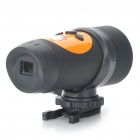 "Sports 720P 0.7"" LCD 1.3MP Action Video Camera Camcorder with AV / SD Slot - Black + Orange"