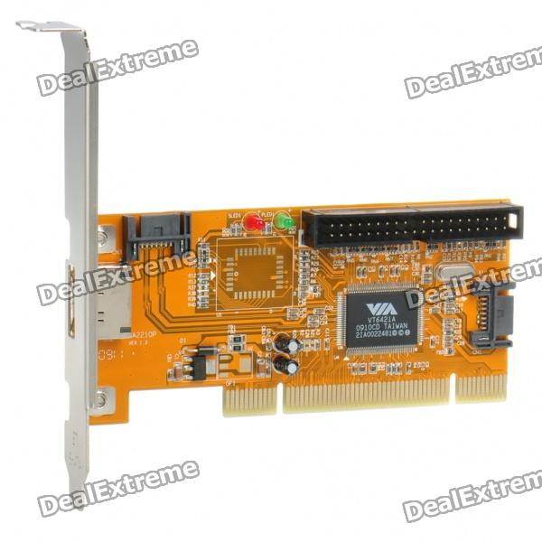 SATA + IDE Ports PCI Controller RAID Card Adapter top up your english 1 cd