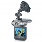 "HD 1080P 2.5"" TFT 3.0MP Vehicle Car DVR Camcorder with 12-LED IR Night Vision / SD / HDMI - Black"