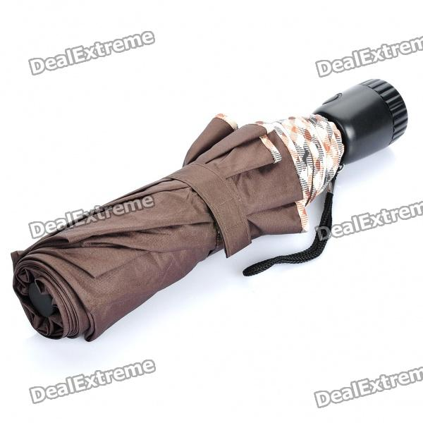 Folding Umbrella mit 2-Mode 6-LED-Taschenlampe Handle (2 x CR2032)
