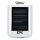 Solar Powered 2400mAh tragbare Emergency Power Charger für iPhone 4/4S/3G/3GS - White