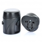 Universal Travel Power Plug Adapter with USB Adapter - Black