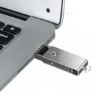 Metallic Mini USB 2.0 Jump/Flash Drive Keychain (4GB)