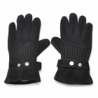 Genuine Pigskin Gloves for Female - Black
