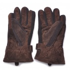 Genuine Pigskin Gloves for Female - Coffee