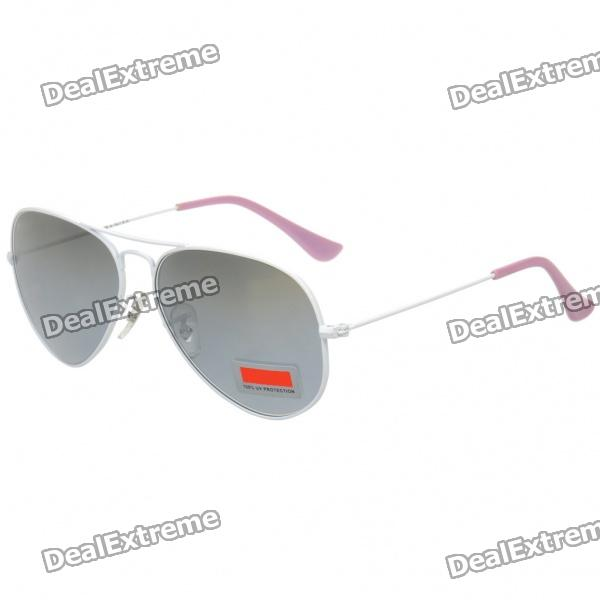 Designer's UV 400 Protection Optical Glass Lens Sunglasses - White + Grey