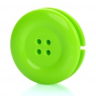 Cute Button Style Plastic Earphone Cable Winder/Organizer with Clip (Random Color)