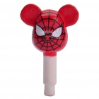 Cute Spider Man 3.5mm Dustproof Plug-in Earphone Jack for iPhone - Red + Black