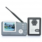 "3,5 ""-LCD 2,4 GHz Wireless-300KP CMOS Digital Video Door Phone w / 6-LED IR Nachtsicht"