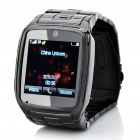 "Watch Style 1.6"" Touch Screen Single SIM Single Network Standby Quadband Cellphone w/ Java - Black"