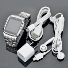 "Watch Style 1.6"" Touch Screen Single SIM Single Network Standby Quadband Cellphone w/ Java - Silver"