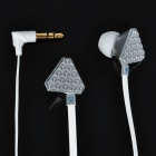 Stylish Popular Stereo Earphone - Silver + White (3.5mm Jack)