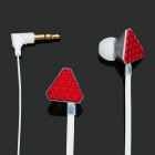 Stylish Popular Stereo Earphone - Red + White (3.5mm Jack)