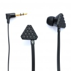 Stylish Popular Stereo Earphone - Black (3.5mm Jack)