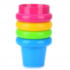 Portable Compact Colors Cup Set (250ml/4-Piece Pack)