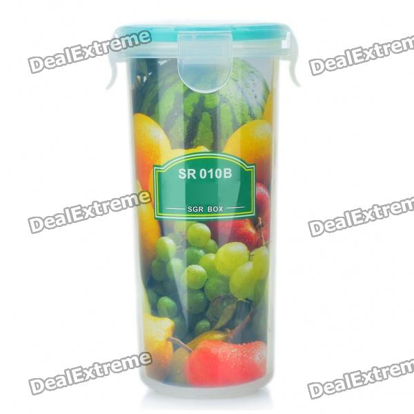 Compact Fresh Food Box Storage Container Watter Bottle Cup - Transparent Green (500ml)