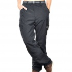 Men's Nylon Casual Sports Quick-Dry Zip Off Capri Pants - Black (Size-S)