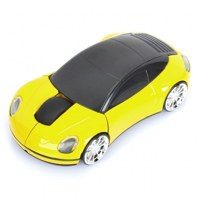 Creative Car Style 2.4GHz Wireless 1200DPI Optical Mouse with USB Receiver (2 x AAA)