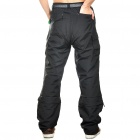 Men's Nylon Casual Sports Quick-Dry Zip Off Capri Pants - Black (Size-XL)