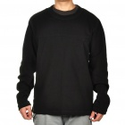 Men's Fleece Pullover - Black (Size-L)