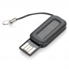 Mini Retractable USB Flash Drive - Black (2GB)