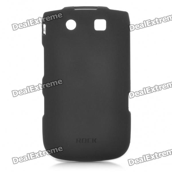ROCK Protective PC Back Case with Screen Protector Guard for BlackBerry 9810/9800 - Black