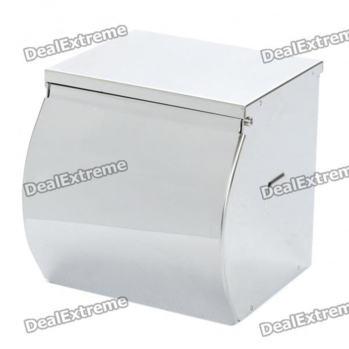 Stainless Steel Toilet Tissue Holder Roll Paper Dispenser - Silver jomoo bathroom toilet paper holder gold color roll tissue holder wall mounted papel higienico box bathroom accessories