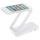 Rechargeable Iphone Style 24-LED White Light Folding Desk Lamp - White
