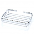Rectangular Wire Basket Bathroom Shelf Soap Dish Copper Storage Holder - Silver