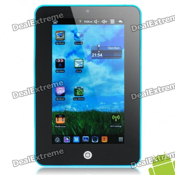 "7,0 ""Resistive Touch Screen Android 2.2 Tablet PC mit Kamera / Wi-Fi / TF - Blue (ARM V5 349.79MHz)"