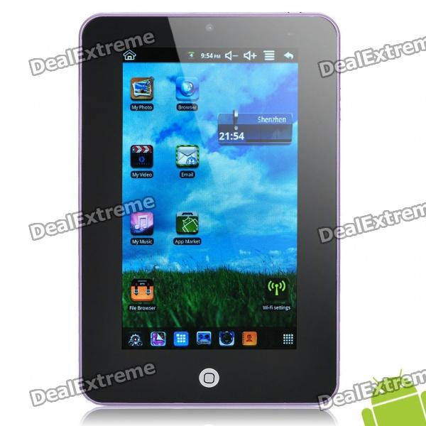 "7.0"" Resistive Touch Screen Android 2.2 Tablet PC with Camera/Wi-Fi/TF - Purple (ARM V5 349.79MHz)"