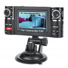 720P Dual Lens 2-CH Vehicle Car Digital DVR Camcorder w/ G-Sensor / TF / Mini HDMI (2.7