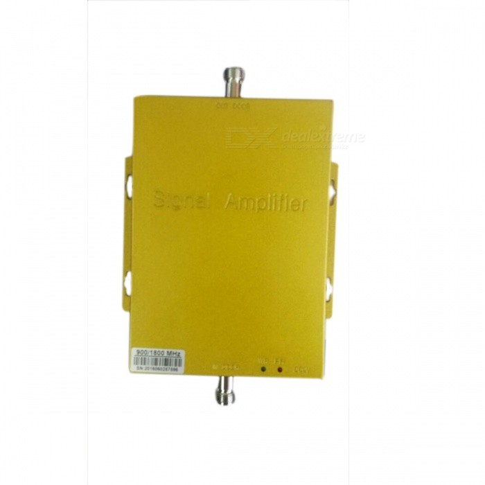 GSM DCS Cell Phone Mobile Phone Signal Repeater Booster Amplifier - Gold