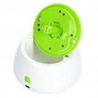 Compact USB Humidifier Air Purifier Aroma Diffuser - White + Green