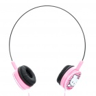 Cute Hello Kitty Style Headphone Headset - Pink (3.5mm Jack)