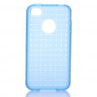 ROCK Grid Style Protective Soft TPU Back Case for Iphone 4/4S - Blue