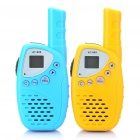 "Mini 0.6"" LCD Rechargeable 20-Channel Walkie Talkies (3000 Meters/Pair)"