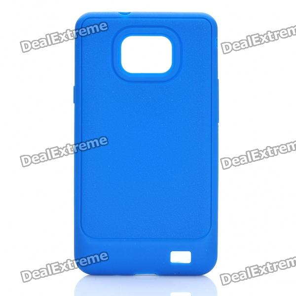 Protective Silicone Case for Samsung Galaxy S2 i9100 - Blue