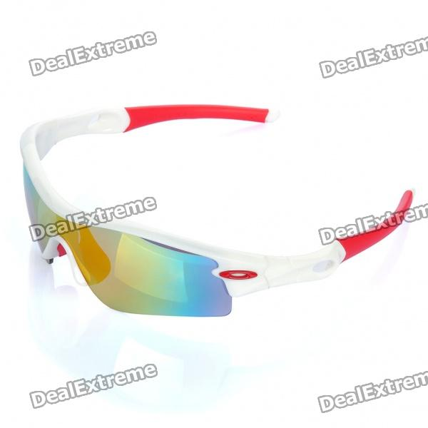 UV400 Schutz Fashion Outdoor Sports Sunglasses Goggle - Red Frame-