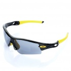 Fashion Outdoor Sports UV400 Protection Sunglasses Goggle - Black + Yellow