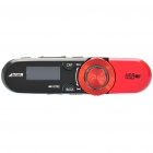 "Designer's 0.8"" LCD Rechargeable MP3 Player w/ FM / 3.5mm Jack - Red (2GB)"