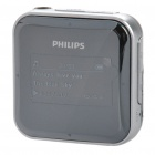 "Philips SA028302K/93 1,2 ""OLED Rechargeable MP3 Player w / FM / 3,5 mm Klinke - Schwarz + Silber (2G)"