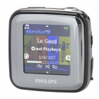 PHILIPS SA2SPK04K/93 1.5' TFT LCD Rechargeable MP3 Player w/ FM - Black + Silver (4GB)