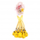 Pikachu Style Bells with Lanyard - Yellow (10-Piece)