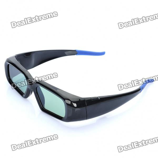 Universal USB Rechargeable IR 3D Active Shutter Glasses for General 3D TVs - Black