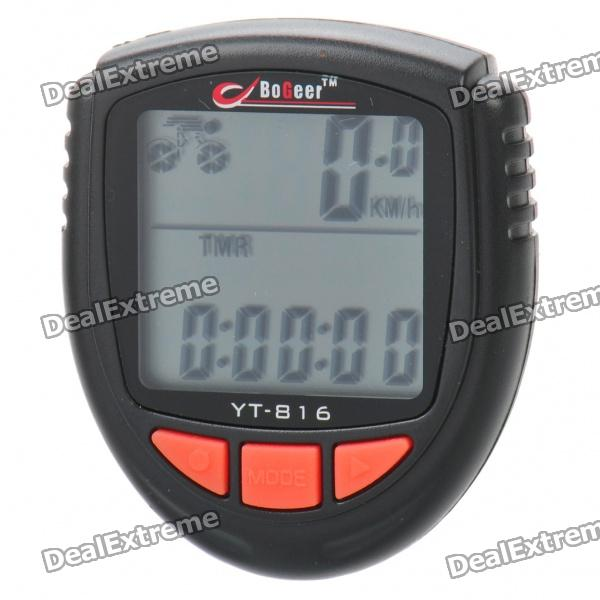 1.5 LCD Waterproof Electronic Bicycle Speedometer - Black (1xCR2032 Battery)